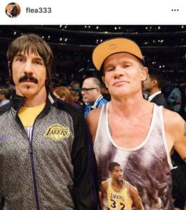 anthony kiedis, flea, red hot chili peppers, lakers