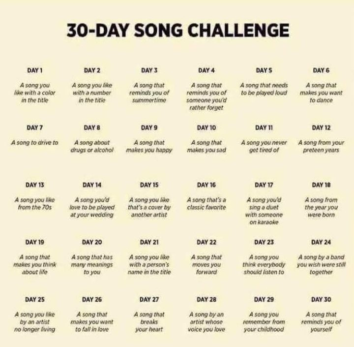 30day song challenge